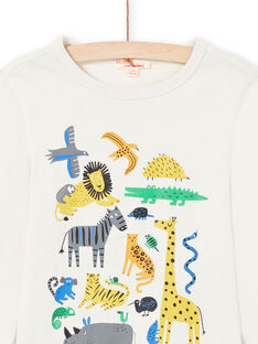 Camiseta de color crema para niño MOKATEE1 / 21W902I1TML007
