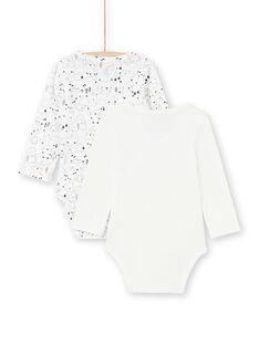 2 bodis de color crudo y negro para niño recién nacido MOU1BOD2 / 21WF0442BOD001