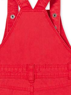 Peto corto rojo para bebé niño LUCANSAC / 21SG10M1SACF505