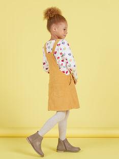 Vestido-peto de color mostaza para niña MAMIXROB4 / 21W901J4ROBB106