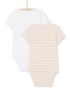 Pack de 2 bodis blancos para recién nacido unisex LOU2BOD3 / 21SF05I1BOD000