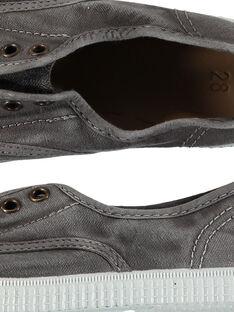 Tenis de lona lisos para niño FGTENGREY / 19SK36B3D16940