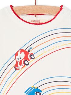 Camiseta de color crudo y rojo, para bebé niño LUHATEE1 / 21SG10X2TML001