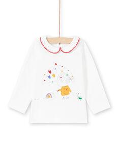 Camiseta de color crudo para bebé niña MIMIXBRA / 21WG09J1BRA001