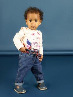 Vaquero y cinturón con estampado floral para bebé niña MIPAPAN / 21WG09H2PANP274