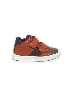 Zapatillas camel de piel para niño MOBASNEWTAN / 21XK3674D3F804