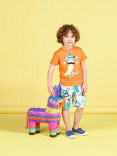 Camiseta de manga corta con estampado de pimiento de color naranja para niño JOMARTI2 / 20S902P2TMCE405