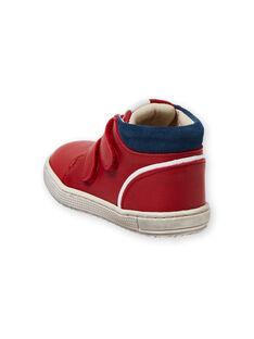 Zapatillas de color rojo y azul marino para bebé niño LBGBASRED / 21KK3831D3F050