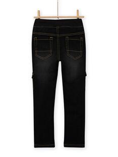 Vaquero negro con múltiples bolsillos para niño MOSAUJEAN / 21W902P1JEAK003