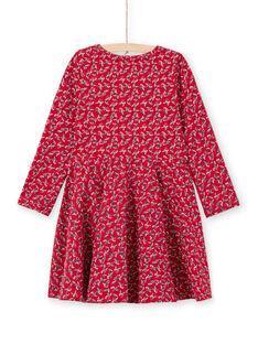 Vestido rojo con estampado floral para niña MAMIXROB3 / 21W901J1ROB511