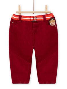 Pantalón y cinturón de rayas para bebé niño MUFUNPAN1 / 21WG10M1PAN504