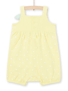Pelele de color amarillo, para bebé niña LEFIGRECIT / 21SH13C5GRE116