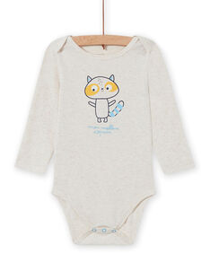 Body crudo con estampado de mapache para bebé niño MEGABODCOP / 21WH14C6BDL006