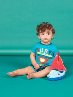 Conjunto de playa de color azul y turquesa para bebé niño LUPLAENS2 / 21SG10T1ENS202