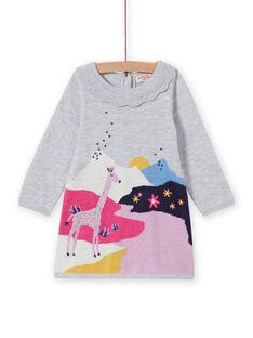 Vestido de punto con estampado de fantasía para bebé niña MIPLAROB2 / 21WG09O2ROBJ920
