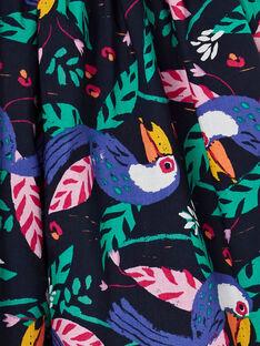 Falda reversible de color azul marino y verde, con estampado de tucán LANAUJUP2 / 21S901P2JUPC205