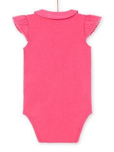 Body rosa con estampado de fantasía para bebé niña LIBONBOD / 21SG09W1BOD302
