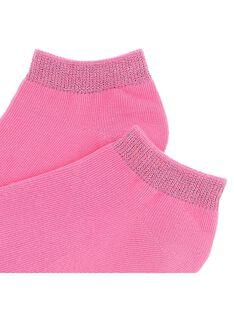 Girls' pink ankle socks CYAJOCHO11B / 18SI01SASOQ313
