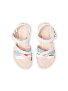 Sandalias blancas para niña LFSANDCLAIRE / 21KK355KD0E000