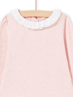 Camiseta de color rosa y blanco para bebé niña MIJOBRA2 / 21WG0914BRAD314