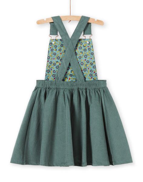 Vestido-peto de color caqui para niña MAKAROB4 / 21W901I4ROB626
