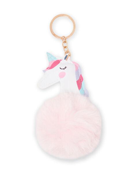 Llavero rosa de unicornio con borla para niña MYACLACLES1 / 21WI01G2D5M321