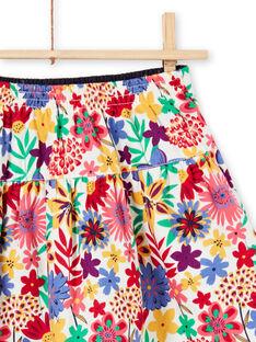Falda reversible con frunces y estampado floral colorido para niña MAMIXJUP2 / 21W901J1JUP009