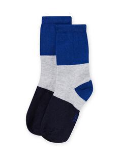 Calcetines de color tricolores para niño MYOJOCHOC1 / 21WI0217SOQ701