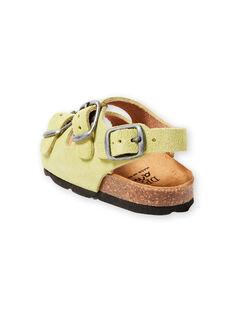 Sandalias lisas de color verde pastel para bebé niño LBGNUVERT / 21KK3853D0E602