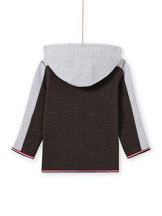 Sudadera de chándal de color antracita y gris jaspeado con capucha para niño MOJOJOH2 / 21W90213JGH944