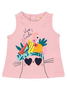 Camiseta de tirantes estampada para bebé niña FICUDEB / 19SG09N1DEBD303