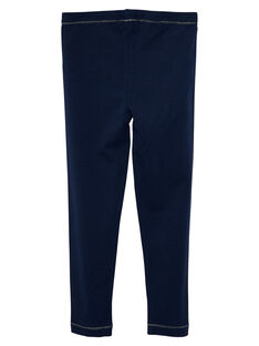 Leggings de color azul marino para niña JYAESLEG2 / 20SI0163D26070