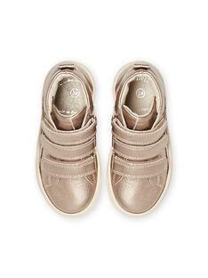 Zapatillas altas doradas para niña MABASGOLD / 21XK3557D3F954
