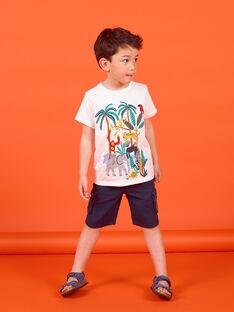 Camiseta de manga corta de color crudo, para niño LOVITI4 / 21S902U4TMC001