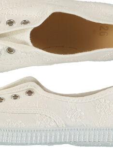 Tenis de lona bordada para niña FFTENBROD3 / 19SK35B7D16000