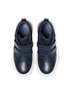 Zapatillas altas de color azul marino para niño MOBASGO / 21XK3654D3F070