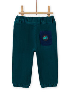 Pantalón de color azul pato de pana para bebé niño MUJOPAN1 / 21WG1011PAN714