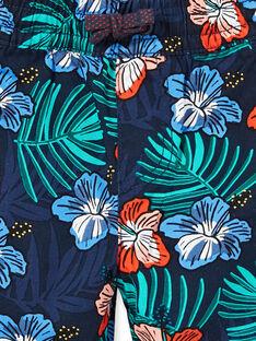 Bermudas azul marino con estampado floral, para niño LOBONBER3 / 21S902W2BER705