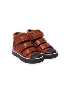 Zapatillas altas de color camel para niño MOBASTRIVTAN / 21XK3652D3F804