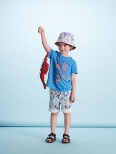 Camiseta de manga corta de color azul con estampado de cangrejos para niño JOCEATI3 / 20S902N6TMC201