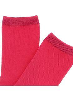 Girls' mid length socks CYAJOCHO2B / 18SI01R8SOQF503
