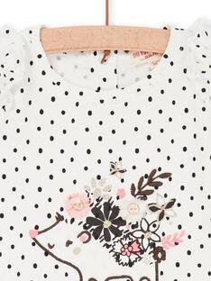 Camiseta de lunares de color blanco y azul marino, para bebé niño LIPOETEE1 / 21SG09Y2TML001