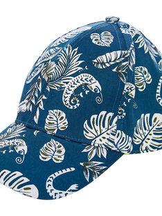 Gorra de color azul marino y blanco e interior de color amarillo para niño JYOCLOCAP / 20SI0211CHA715