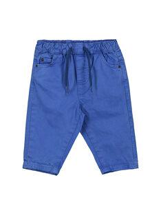 Pantalón de color azul para bebé niño FUJOPAN2 / 19SG1032PANC207