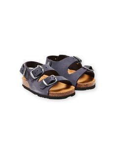 Sandalias azul marino para bebé niño LBGNUBLEU / 21KK385BD0E070