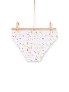 Pack de 3 braguitas de color rosa y amarillo, para niña LEFALOTJAU / 21SH11G1D5L000