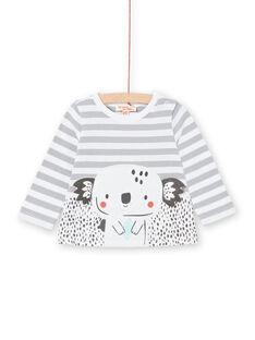 Camiseta de manga larga de rayas para bebé niño LUPOETEE1 / 21SG10Y3TML001