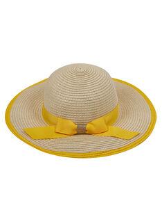 Sombrero de paja con lazo grande para niña JYASOHAT2 / 20SI0181CHA009
