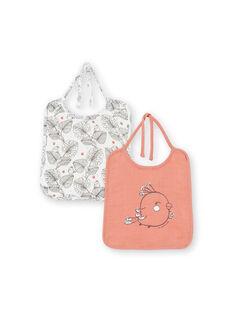 Pack de 2 baberos para niña LOU1BAV1 / 21SF40H1BAVE415