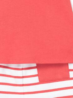 Conjunto de camiseta y short rojo, para bebé niño LUVIENS / 21SG10U1ENSF515